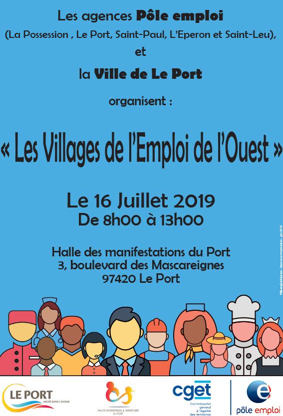 affiche des villages de l'emploi de l'Ouest