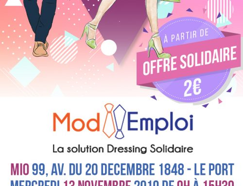 Mod'Emploi, La Solution Dressing Solidaire – 13/11/2019